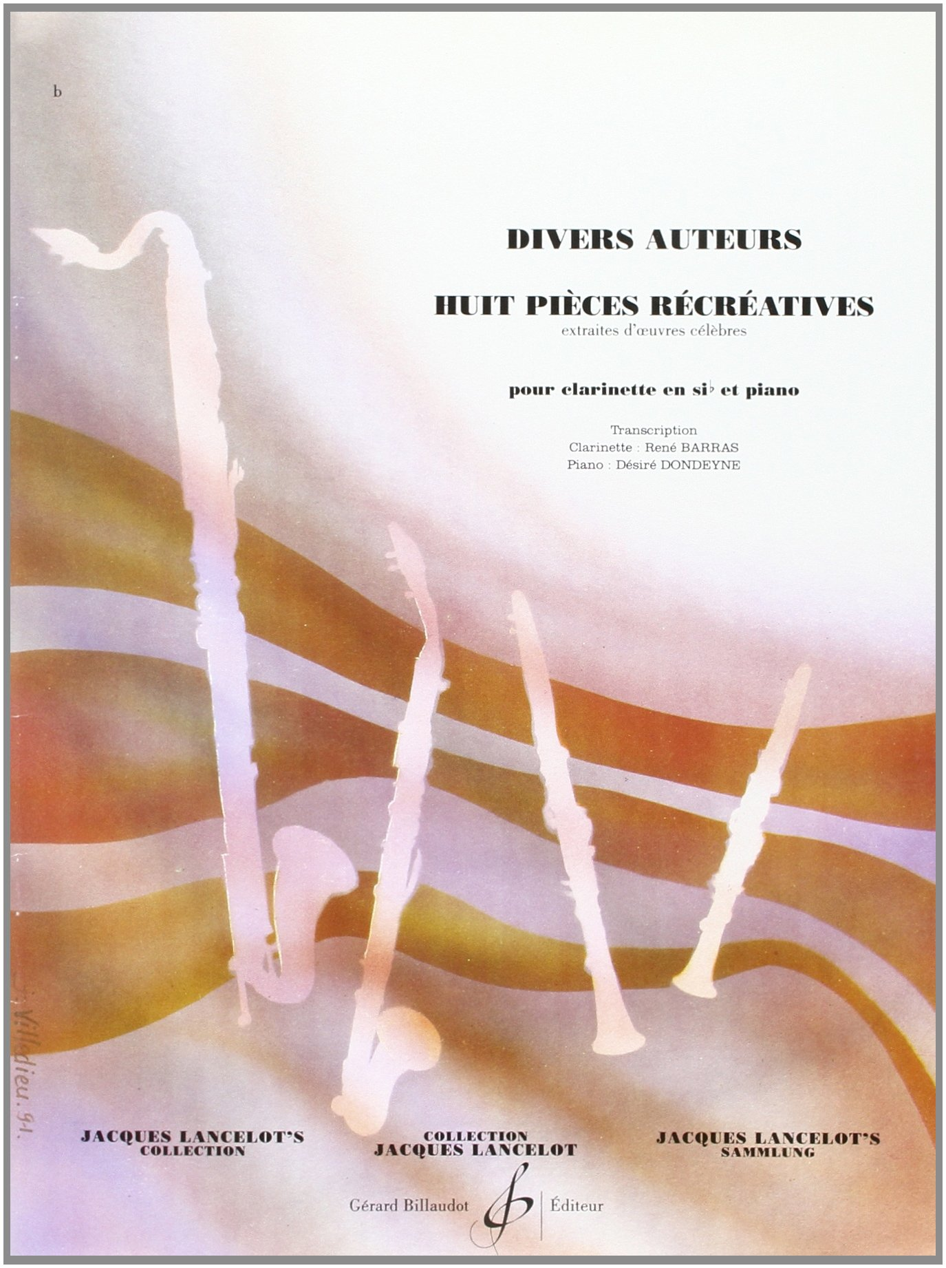 Huit Pieces Recreatives Broché – 1 janvier 2000 Divers Auteurs Billaudot B003JYOVP4