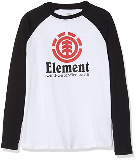 Element Vertical Raglan Tops de Manga Larga, Niños, Blanco (Optic White),