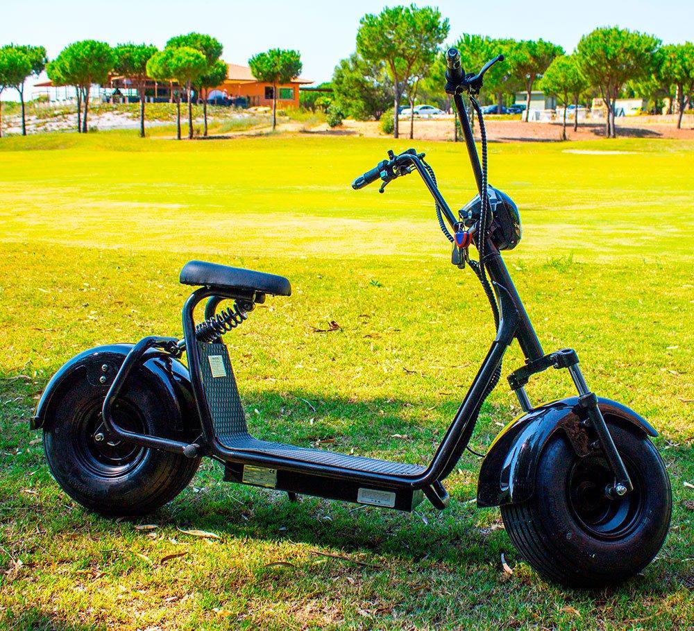 Patín de paseo tipo moto sin carnet. Unisex (negro, 1000 W): Amazon.es: Deportes y aire libre