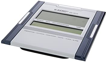 Kadio Digital Jumbo Wall Mount & Table Temperature Display Clock KD-3810