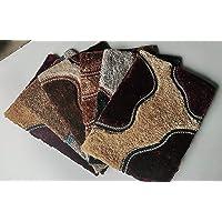SRHandloom Microfiber Anti Skid Door Mat/Bath Mat (Multicolor)