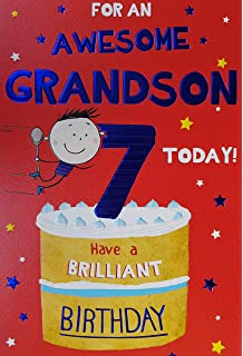 For A Special Grandson On Your 7th Birthday Card