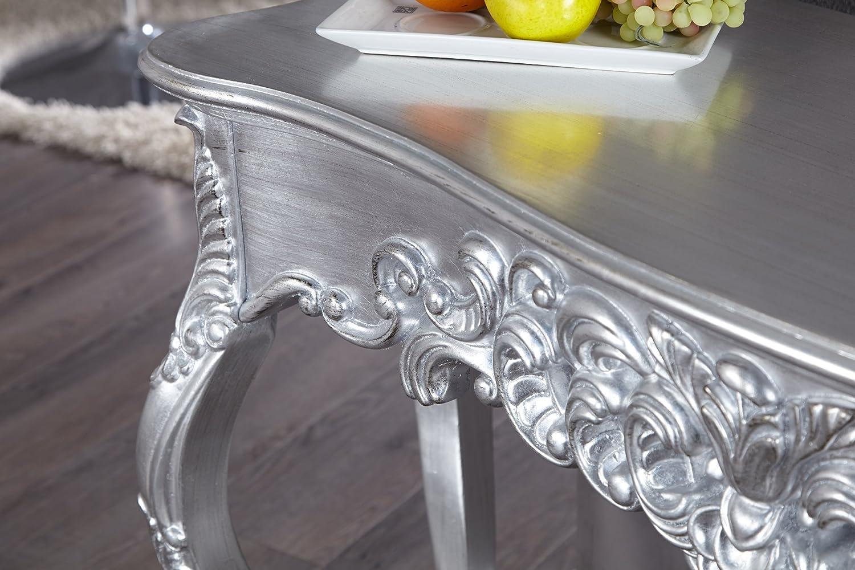 Console de Style Baroque Argent Table de Maquillage 110cm Invicta Interior Table -Venice
