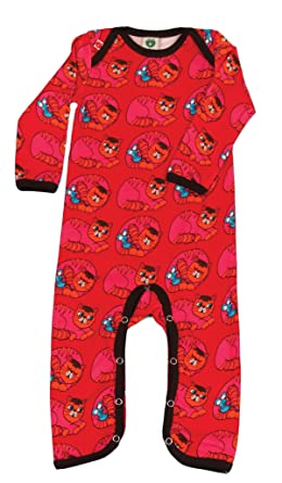 b55df3dc22c6 Smafolk Unisex Baby Long Sleeve Suit with Cats Red Size 62  Amazon ...
