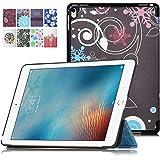 iPad Pro 9.7インチ ケース,【選べる5色】【IVSO】オリジナルiPad Pro 9.7専用カバー スマートケース 超薄型 最軽量 - iPad Pro 9.7インチ 専用ケース (ブラック)