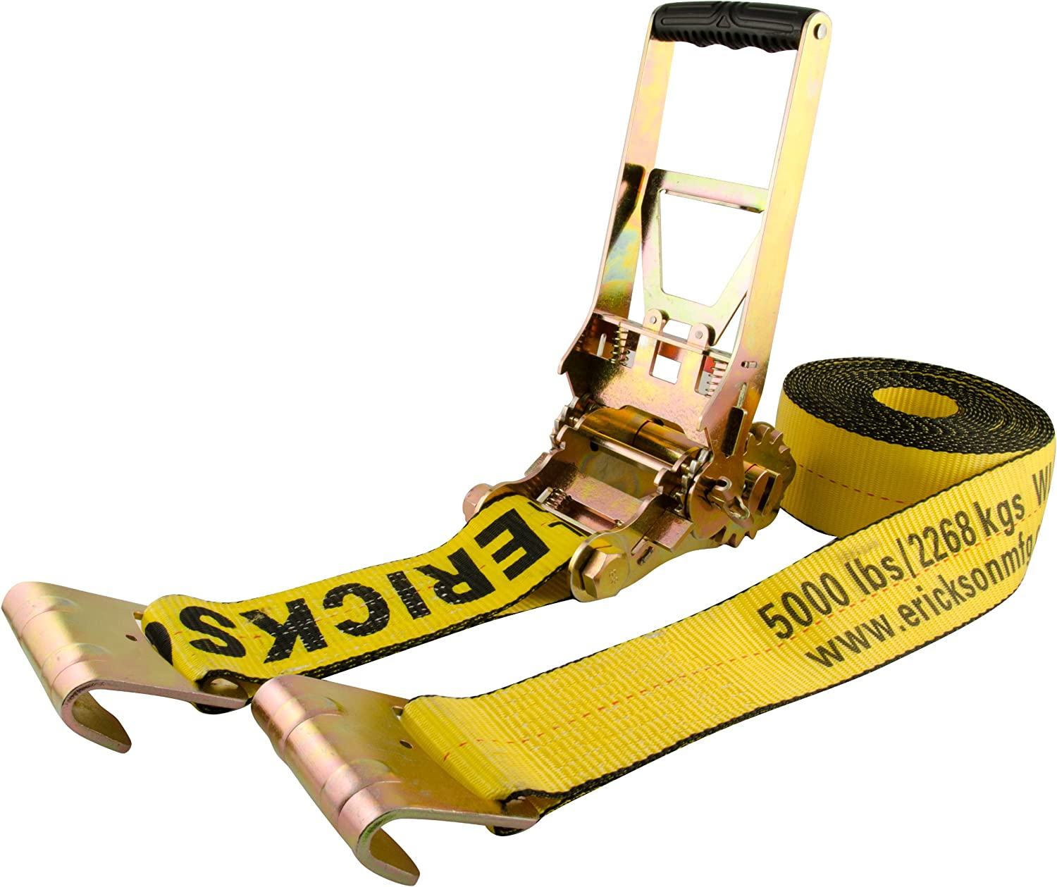 Load Capacity 15000 lb Erickson 58520 3 x 30 Multiplier Ratchet Tie-Down Strap with Flat Hooks