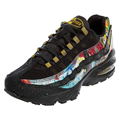 timeless design fd555 ce1f2 Amazon.com | Nike Air Max 95(Gs) \Caribana\ - Black/Metallic ...