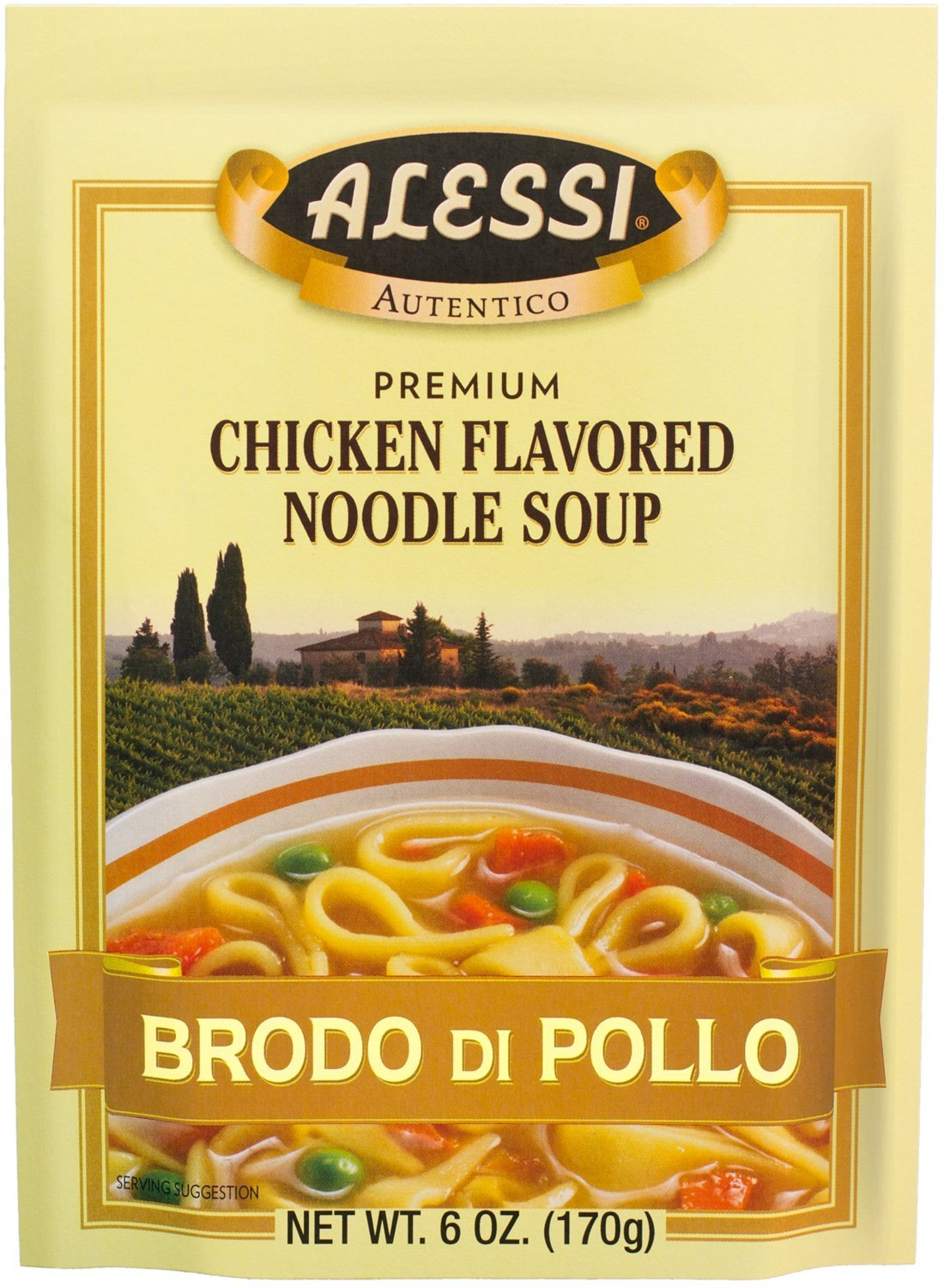 Alessi Sicilian Chicken Noodle Soup, 6-Ounce Packages (Pack of 6)