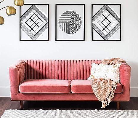 Amazon.com: Edloe Finch Modern Velvet Sofa Mid-Century Couch ...