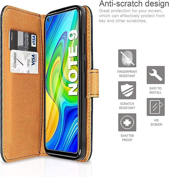 Arc en Ciel Urhause Coque Compatible avec Xiaomi Redmi Note 9 Pro /Étui Motif Dessin Portefeuille /Étui en Cuir PU Flip Pochette /à Rabat Fentes pour Cartes Magn/étique Support Housse de Protection Case