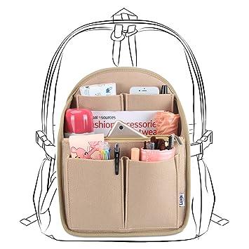 Luxja Taschenorganizer Filz, Bag in Bag Organizer, Taschenorganizer für Rucksack, Filz Organizer Tasche Groß Genug für A4 Papier, Khaki