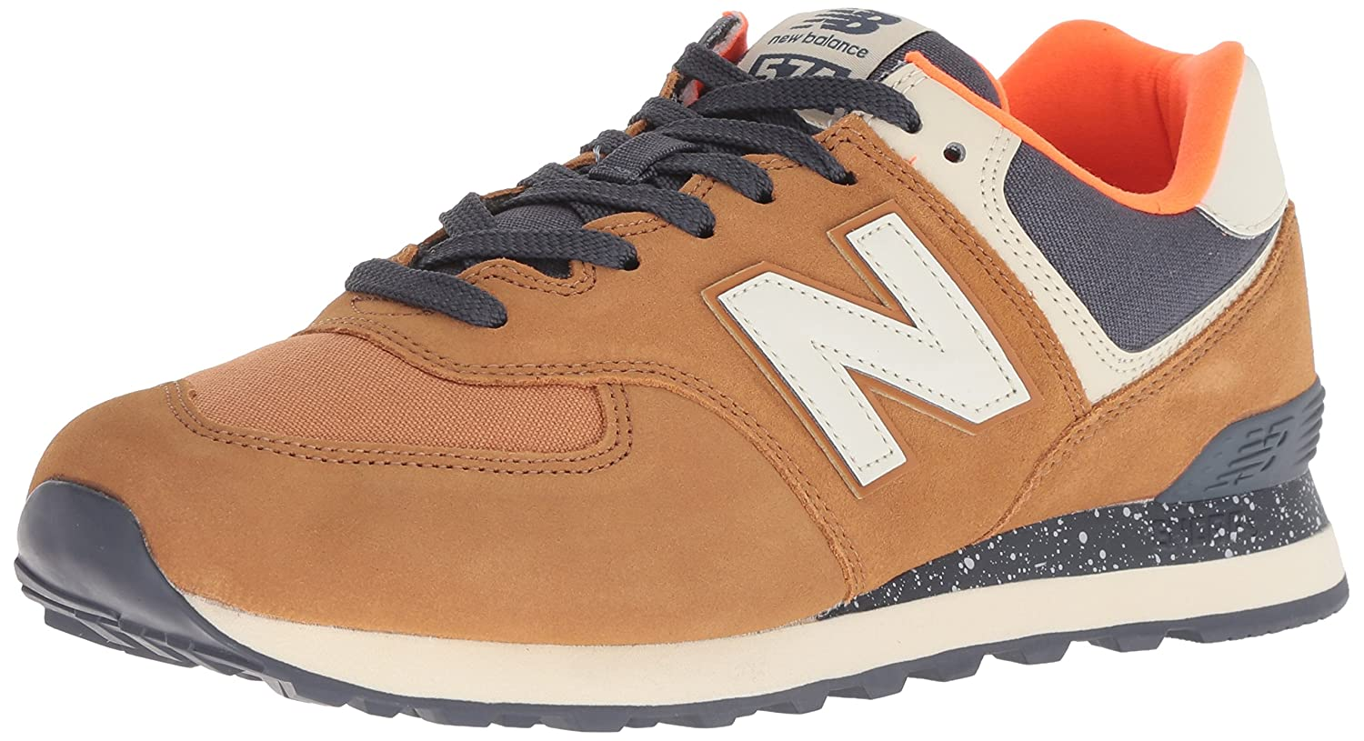 New Balance Men's Ml574v2 B076BJM1H5 15 W US|Brown