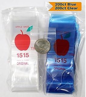 "1010 125125 1515 175175 2020 1/"" 1.25 1.5/"" 1.75/"" 2/"" Apple Ziplock Bags BLUE"