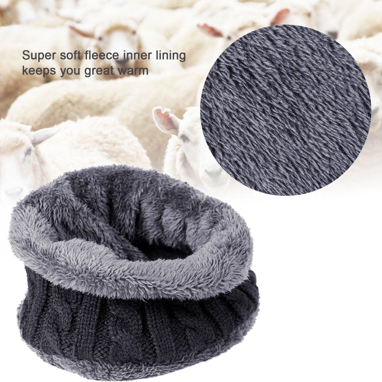 fc50a82dbbb TAGVO Winter Beanie Hat Scarf Set Super Soft Fleece Inner Lining Great Warm