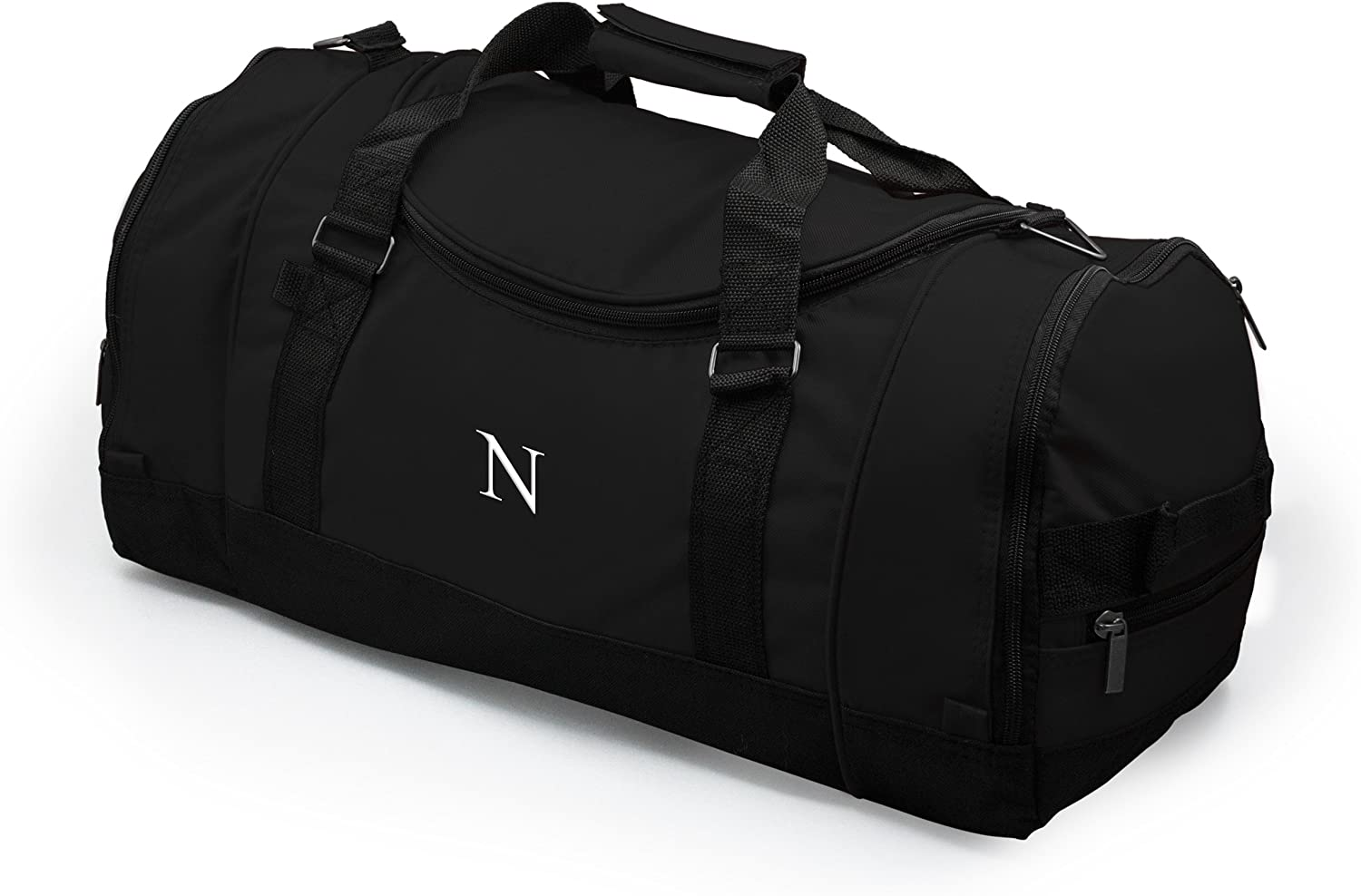 Black Personalized Deluxe Sports Duffle Bag