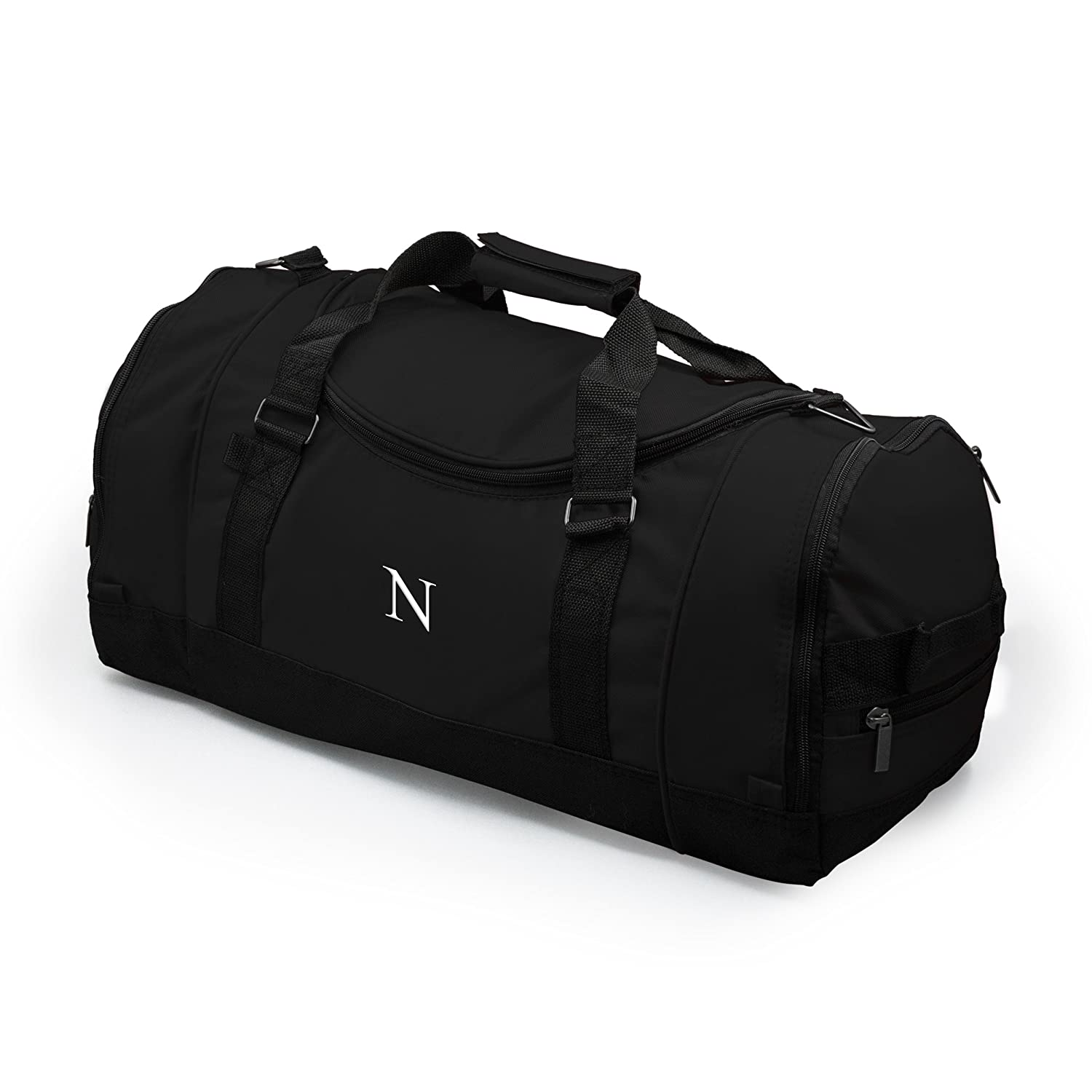 Personalized Deluxe Sports Duffle Bag Black
