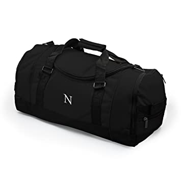 Personalized Deluxe Sports Duffle Bag, Black
