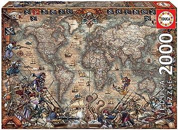 Educa Borras - Genuine Puzzles, Puzzle 2.000 piezas, Mapa de piratas (18008): Amazon.es: Juguetes y juegos