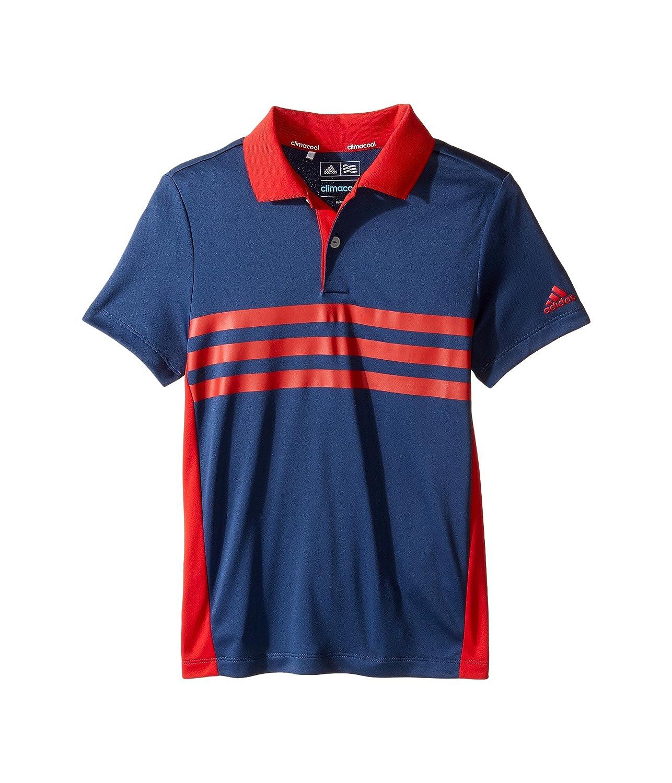 [アディダス] adidas Golf Kids ボーイズ 3-Stripes Chest Print Polo (Big Kids) トップス [並行輸入品] SM (8 Big Kids) St Dark Slate B01NBUW582