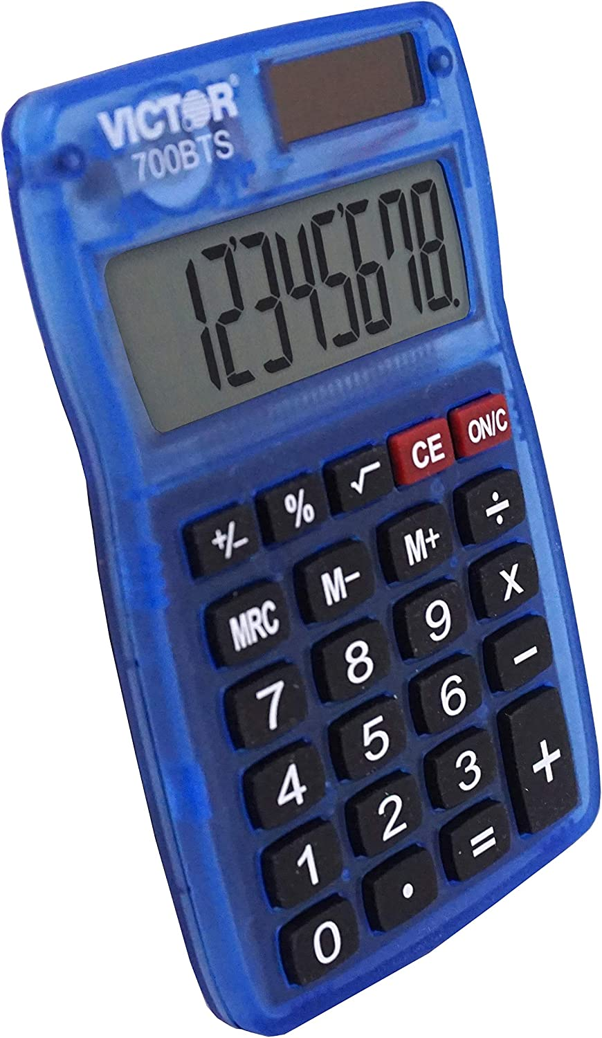 Victor 700BTS Pocket Calculator Red, Green, or Blue Assorted Colors