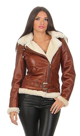 Hollert Damen Lammfelljacke JESSY Cognac Felljacke Winterjacke Bikerjacke  Lederjacke kurze Jacke mit Kapuze 100% echt Merino Lammfell S-2XL   Amazon.de  ... 4f413644ea