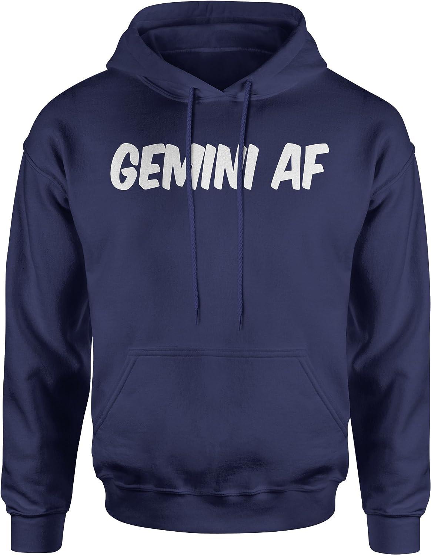 Expression Tees Gemini AF As F-ck Zodiac Unisex Adult Hoodie