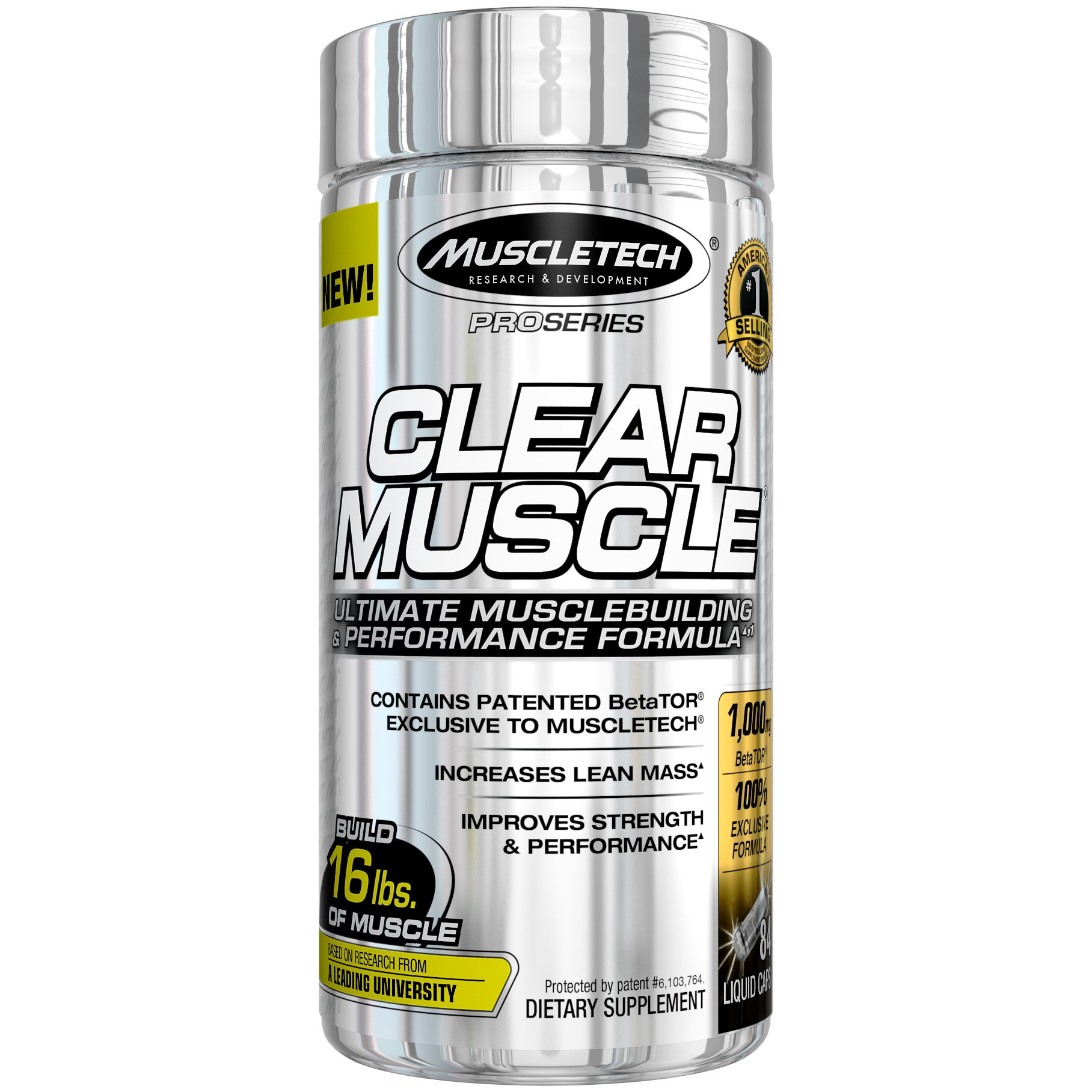 MuscleTech Clear Strength Builder, Recovery and Amino Acid, 84 Count