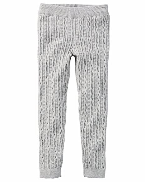 Amazon Carters Big Girls Cable Knit Sweater Leggings 6 Gray