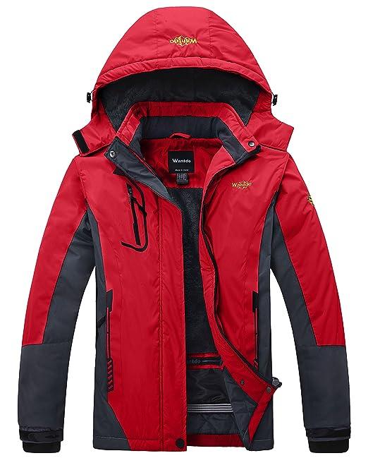 Wantdo Montaña Impermeable Chaqueta de esquí Polar Resistente al Viento Chaqueta Impermeable de la Mujer - Gris -: Amazon.es: Ropa y accesorios