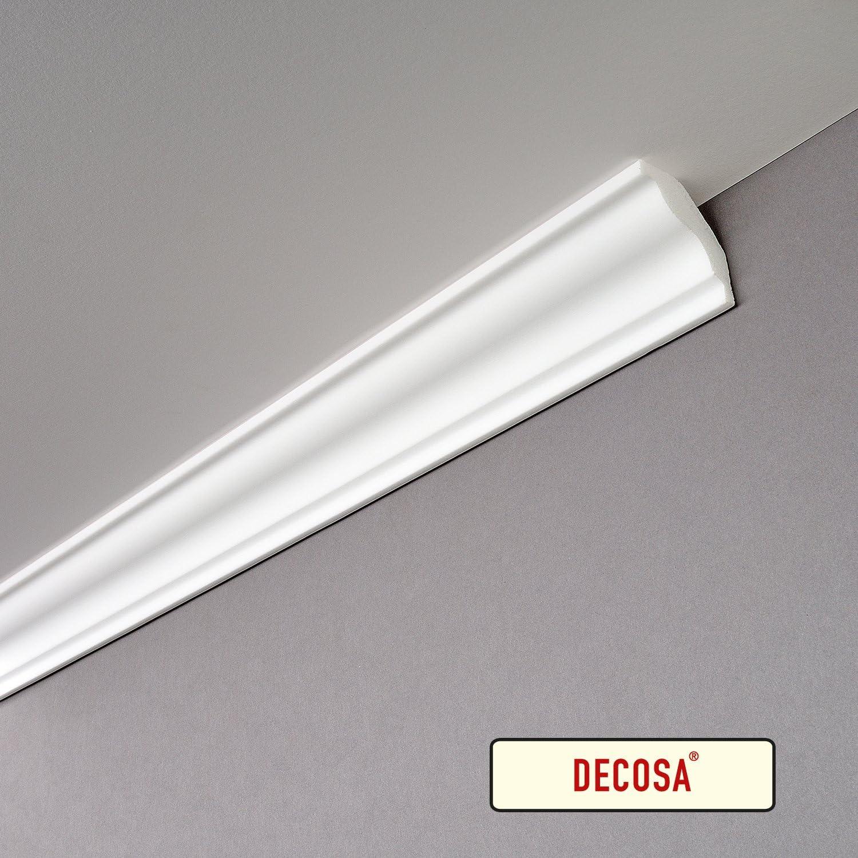 Decosa ornamentali profilo S50/ 40/X 45/mm lunghezza 2/m/ Sofia Bianco /prezzo speciale 60/pezzi