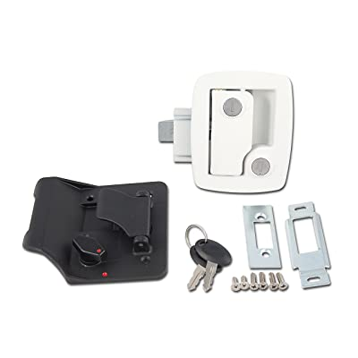 AP Products 013-534 Bauer RV Entry Door Lock, White: Automotive