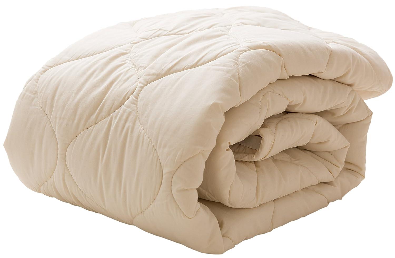 Niceday ( ナイスデイ ) 敷きパッド 日本製 洗える ウール100% クイーン ベージュ 55580405 B01G6LL0I2