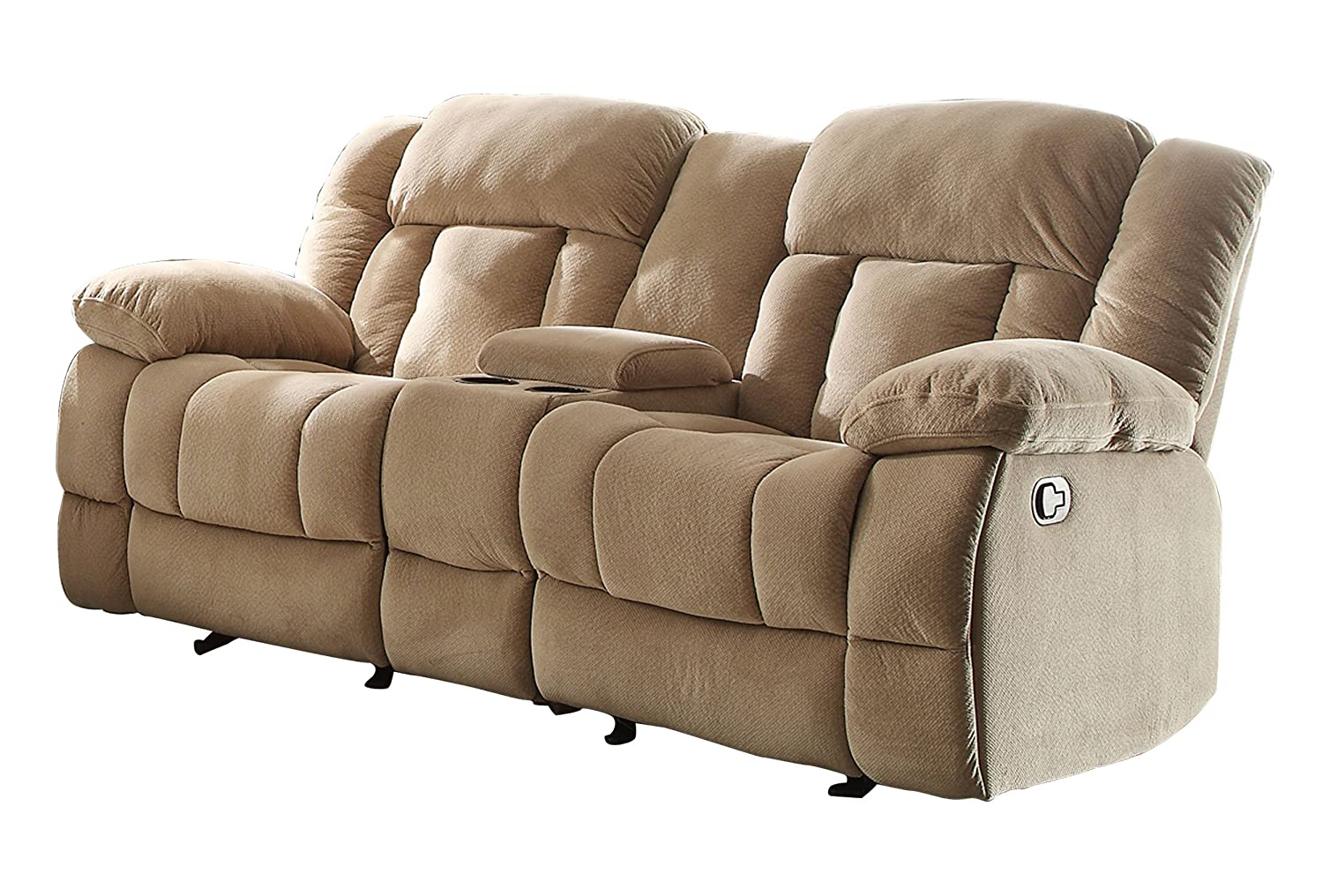 Homelegance 9636nf 2 Double Glider Reclining Loveseat With Center