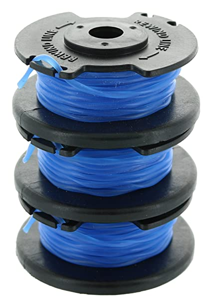 Ryobi One+ AC14RL3A OEM  065 Line and Spool Replacement for Ryobi 18v, 24v,  and 40v Cordless Trimmers (3 Pack)