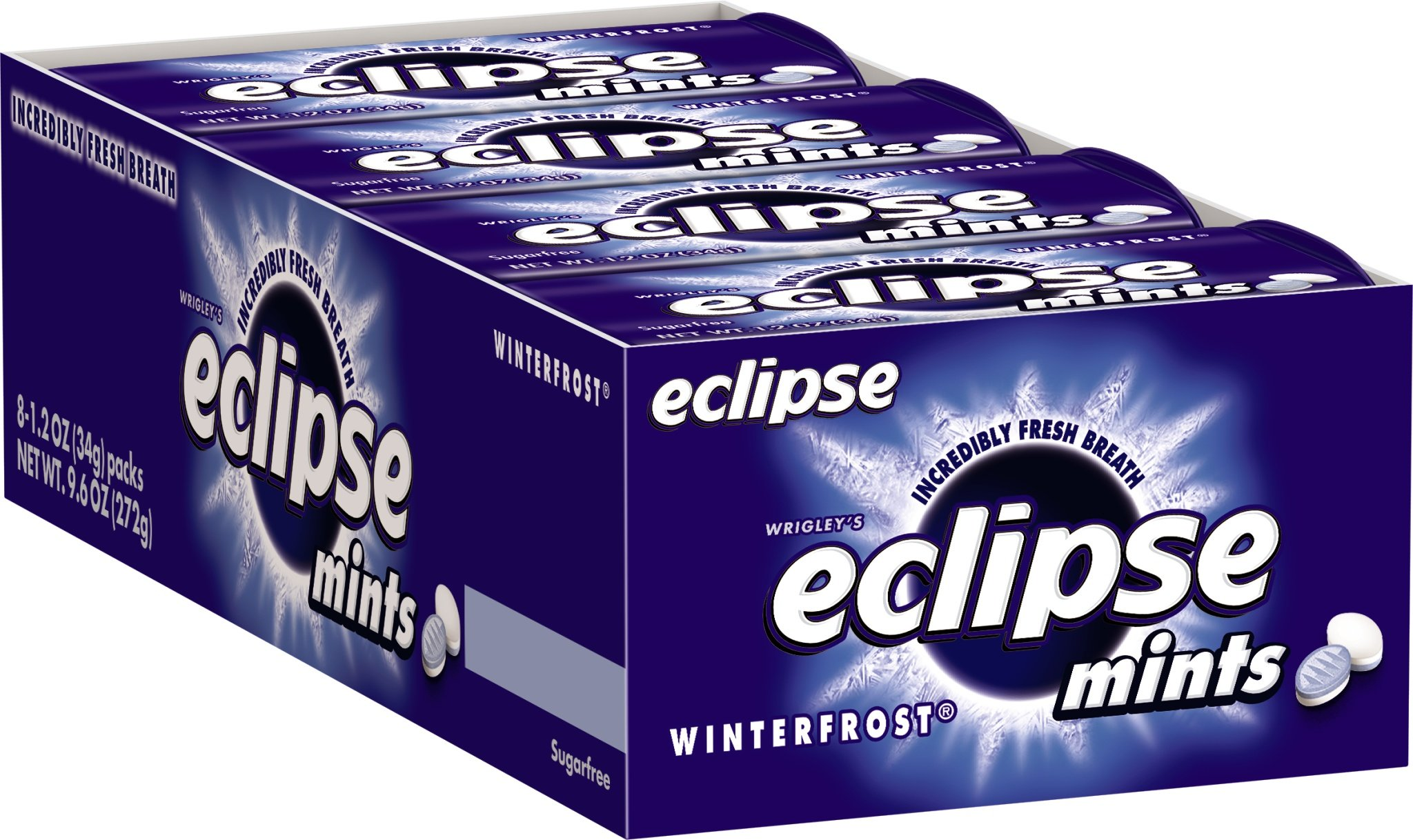 Eclipse Sugarfree Mints Winterfrost, 1.2 Ounce Tins (Pack of 16) by Eclipse Gum