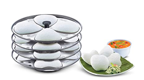 Prestige Heart Shaped 4 Plates Idli Set Pots   Pans