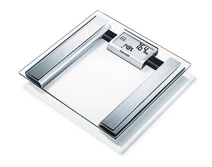 Beurer BG39 - Báscula de baño diagnóstica de vidrio, transparente