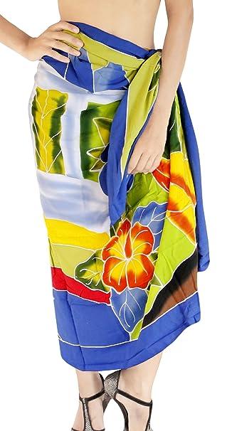 895c8c659d LA LEELA Rayon Swimsuit Women Wrap Sarong Printed 78 quot X43 quot  ...