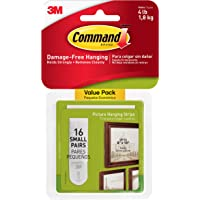 16-PK Command Picture Hanging Strips Value Pack Small White