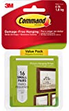 Command Damage-Free Picture Hanging Strips, 2 pairs hold 2 lbs, Create Gallery Walls, Indoor, Value Pack, Hangs 4-8 frames