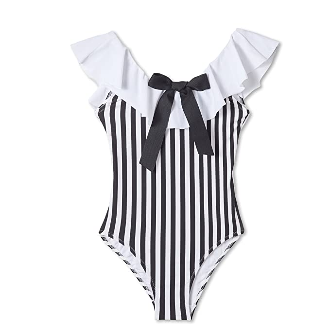 8c63fe542ad55 Image Unavailable. Image not available for. Color: Stella Cove Black and White  Striped Swimsuit