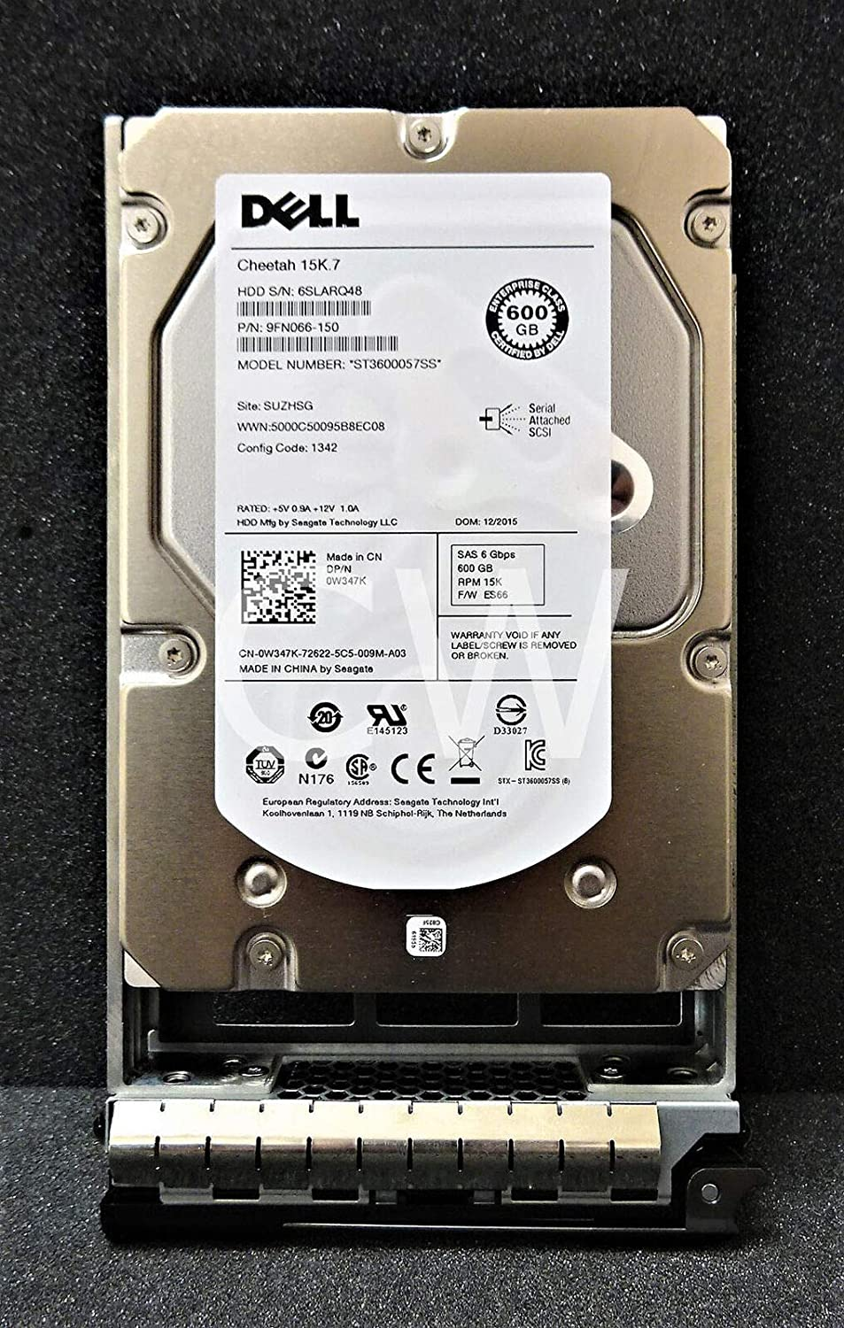 Dell 600gb 15k 3.534; SAS6 Hard Drive - SAS - 15000 rpm - 16 MB Buffer - 1 Pack - W347K
