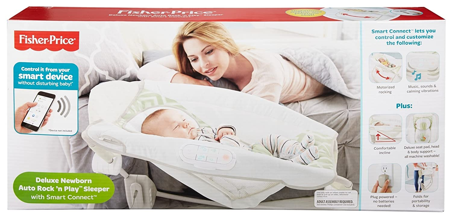 cb1c3c11f Fisher-Price Deluxe Newborn Auto Rock  n Play Sleeper with Smart ...