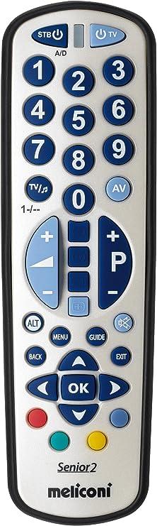 Meliconi Smart 2 Combo - Mando a distancia universal para 2 aparatos, color negro y plateado: Amazon.es: Electrónica