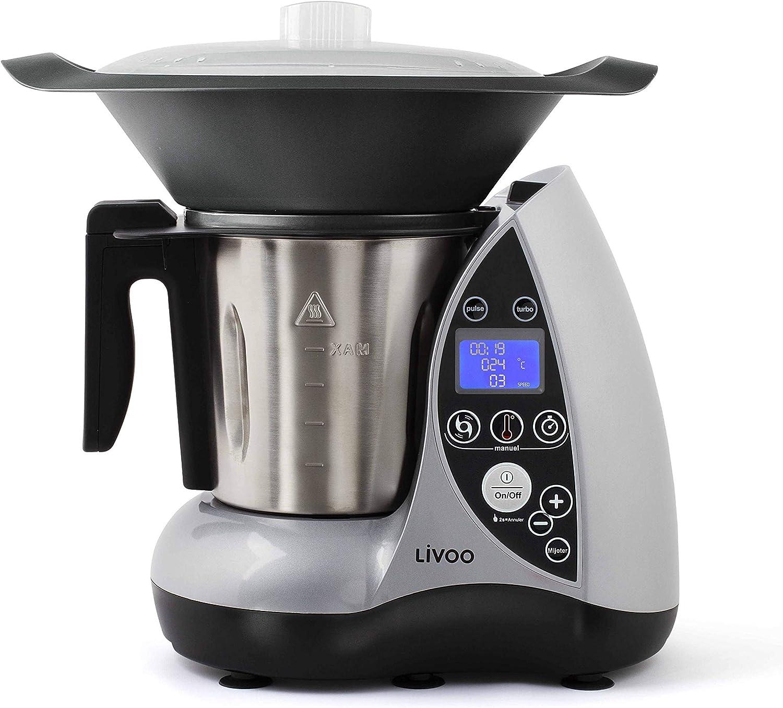 LIVOO - Robot de cocina con calefacción gris: Amazon.es: Hogar