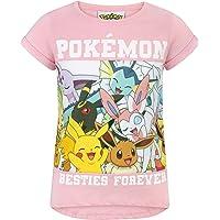 Pokèmon - Camiseta de Manga Corta Oficial Modelo Besties Forever para niñas