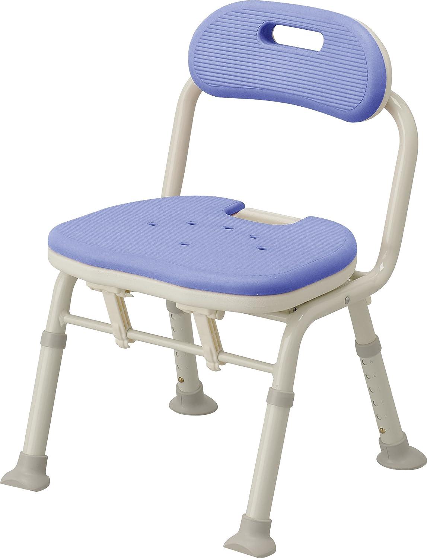 アロン化成 安寿 コンパクト折りたたみシャワーベンチ IC 背付タイプ ブルー B001GZIJ6U  背付タイプ ブルー