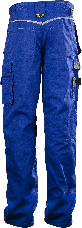 DBlade Multipocket Mens Work Trousers Blue Work Wear Pants CE Certified EN 14404
