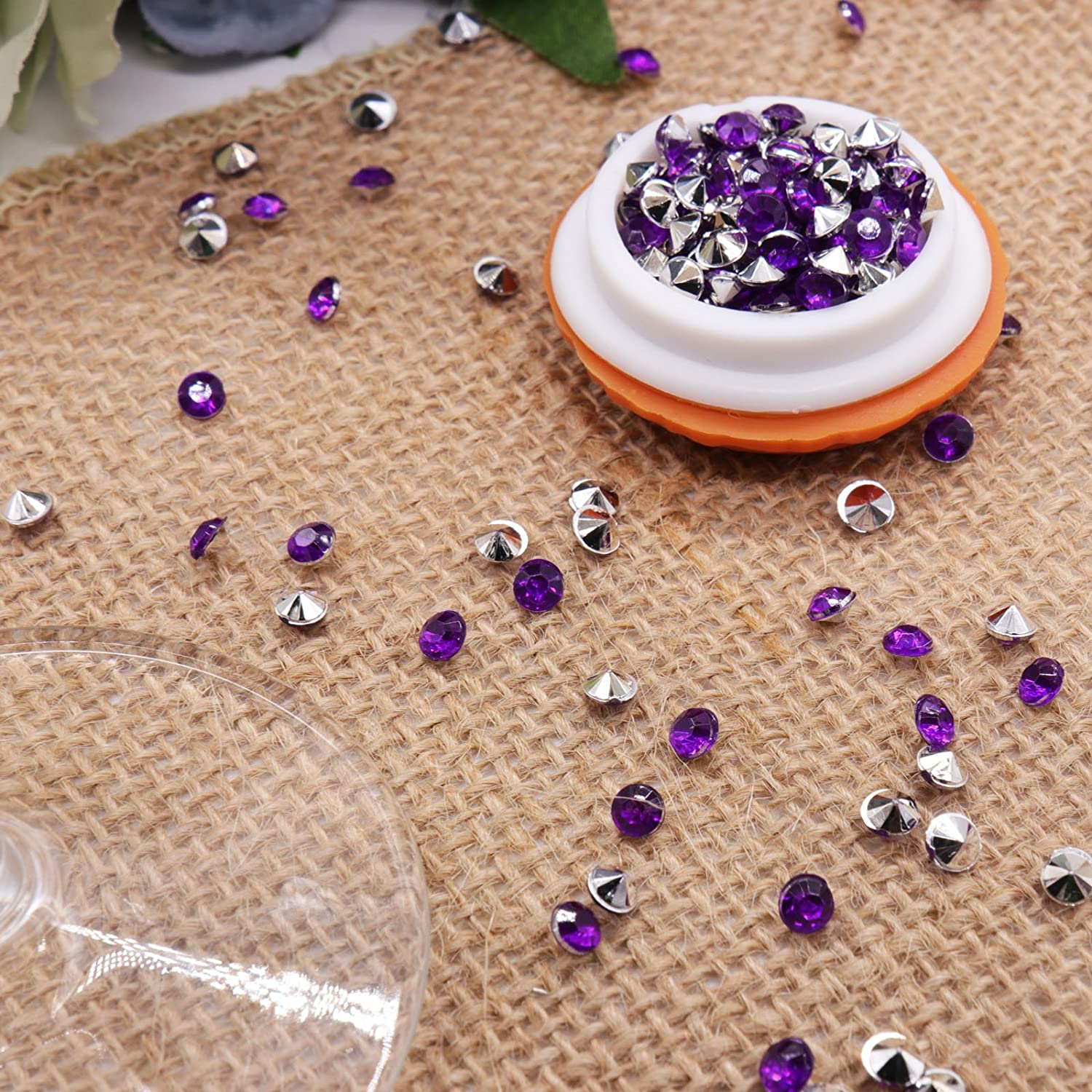 Champagne Arts /& Crafts DIY Ice Rock Treasure Gems BIT.FLY 4.2mm 10000pcs Acrylic Crystal Diamond Vase Fillers for Table Scatter Wedding Event Party Decoration