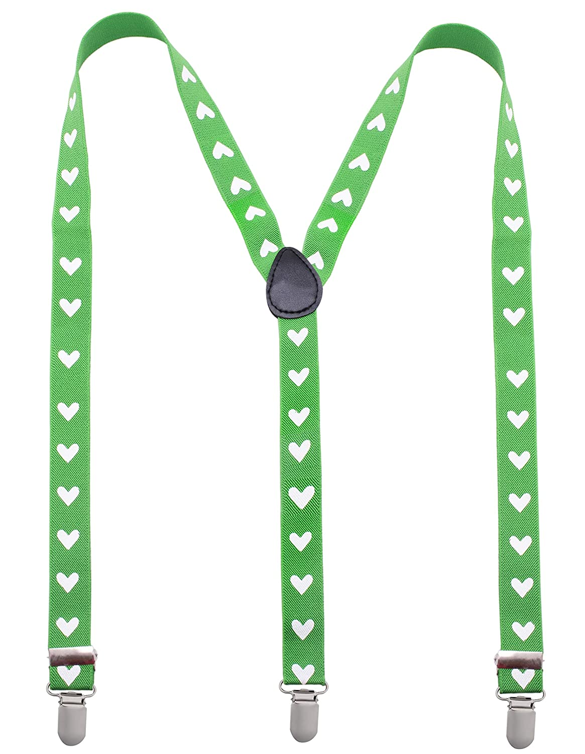 Mens Suspenders with Clips Many Colors to Choose From Man of Men 10384 Fashion Heart Suspenders for Men